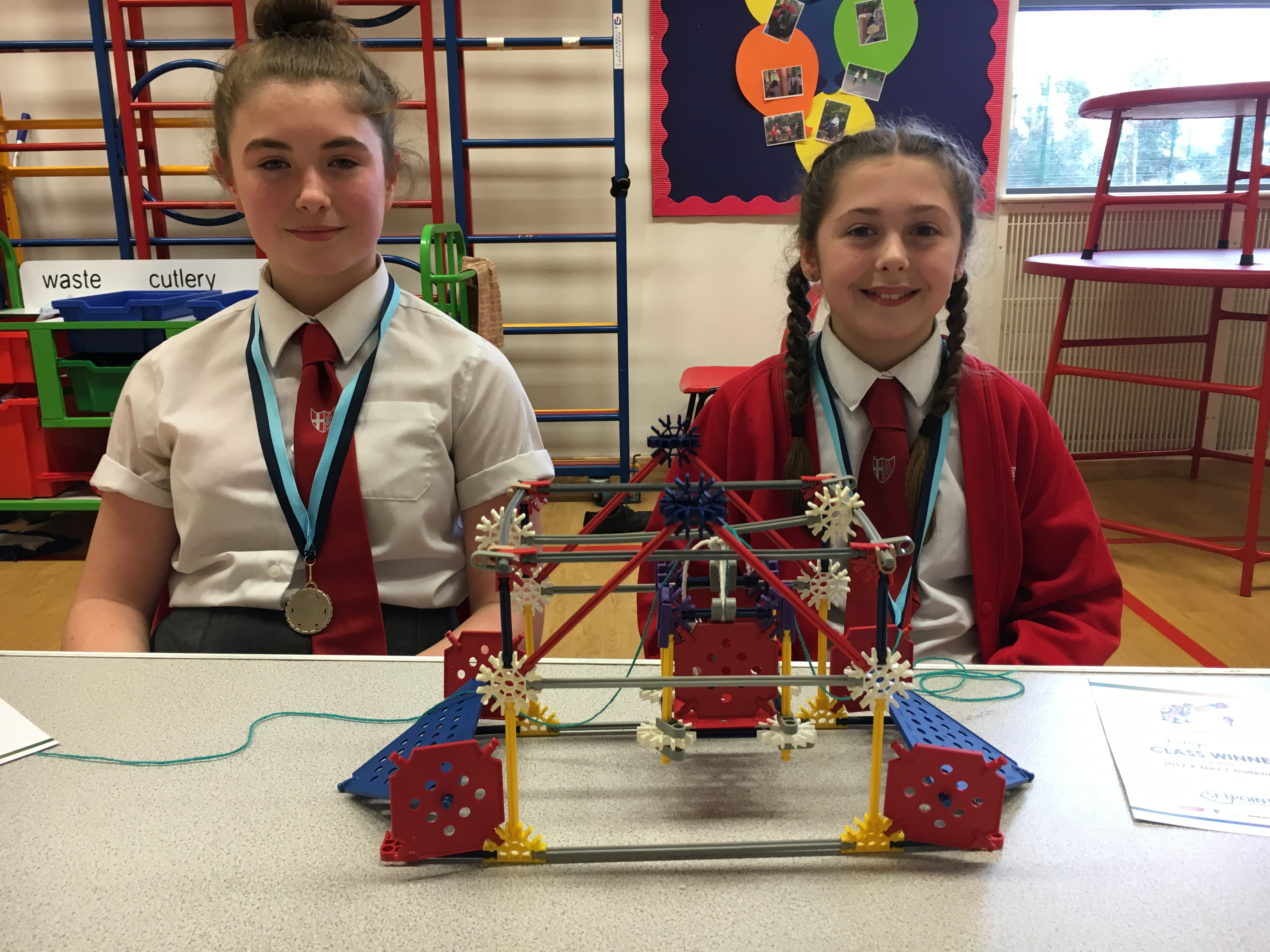 Knex Challenge 2017 Faye and Freya with model.jpg